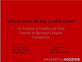 Where Have All the Credits Gone?