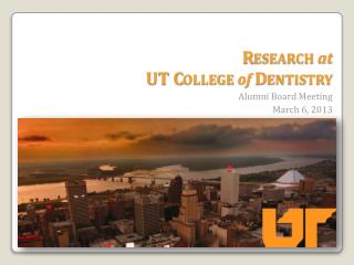 Research at UT College  of Dentistry