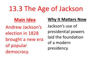 13.3  The Age of Jackson