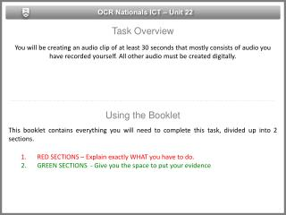 OCR Nationals ICT – Unit 22