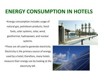 ENERGY  CONSUMPTION IN HOTELS
