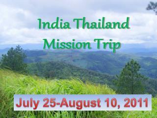 India Thailand Mission Trip