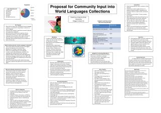 Proposal for Community Input into World Languages Collections