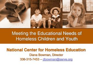 Meeting the Educational Needs of Homeless Children and Youth