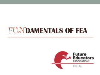 FUN DAMENTALS OF FEA