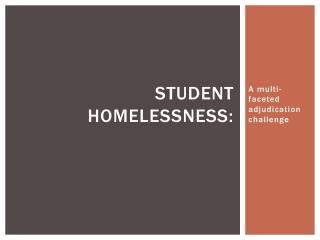 Student Homelessness: