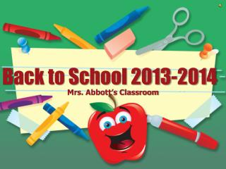 Back to School 2013-2014