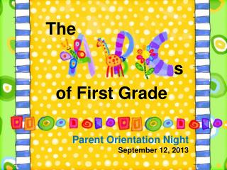 Parent Orientation Night September 12, 2013