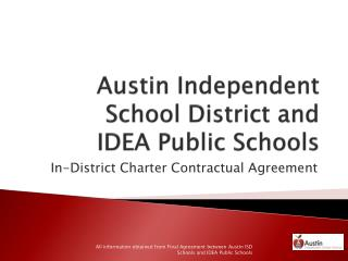 Austin Independent School District and  IDEA Public Schools
