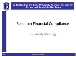 Research Financial Compliance