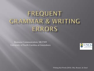 Frequent  Grammar & Writing Errors