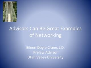 Advisors Can Be Great Examples  of Networking