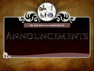 Mt. Zion Missionary Baptist Church