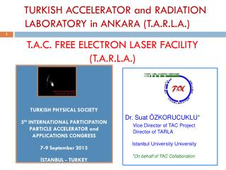 T.A.C .  FREE  ELECTRON LASER FACILITY (T.A.R.L.A.)