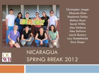 Nicaragua spring break 2012