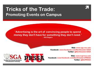 Tricks of the Trade:  Promoting Events on Campus