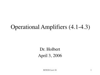 operational amplifiers 4.1-4.3