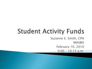 Student Activity Funds