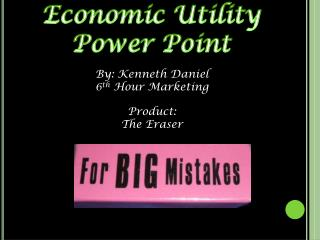 Economic Utility Power Point
