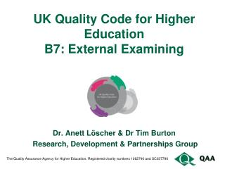 UK Quality Code for Higher Education B7: External Examining