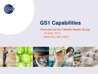 GS1 Capabilities