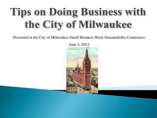 Tips on Doing Business with the City of Milwaukee