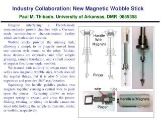 Industry Collaboration: New Magnetic Wobble Stick Paul M.  Thibado , University of Arkansas, DMR  0855358