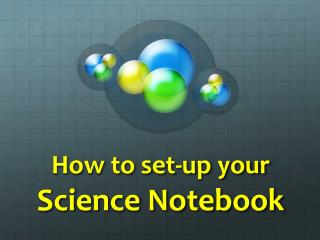 How to set-up your Science  Notebook
