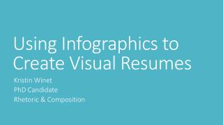 Using Infographics to Create Visual Resumes