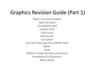 Graphics Revision Guide (Part 1)