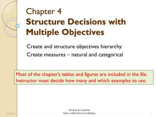 Chapter 4  Structure Decisions with Multiple Objectives