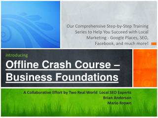introducing Offline Crash Course – Business Foundations