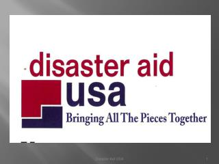 Disaster aid International : USA,  Australia, UK  and Ireland