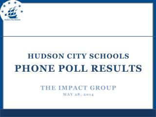 Hudson city schools PHONE POLL Results  THE IMPACT GROUP May 28, 2014