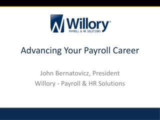 Advancing Your  Payroll Career