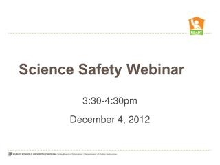 Science Safety Webinar
