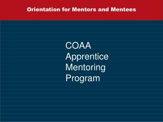 orientation for mentors and mentees