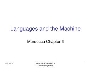 Languages and the Machine