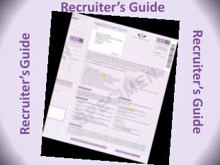 Recruiter's  Guide