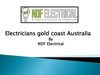 Electricians gold coast Australia