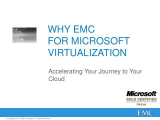 WHY EMC  FOR MICROSOFT VIRTUALIZATION