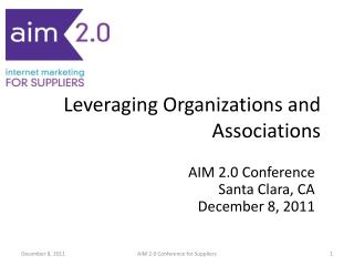 Leveraging Organizations and Associations