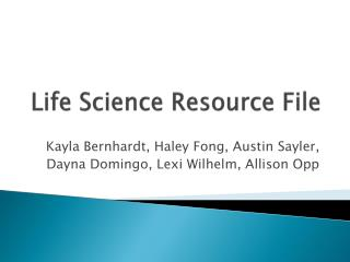 Life Science Resource File