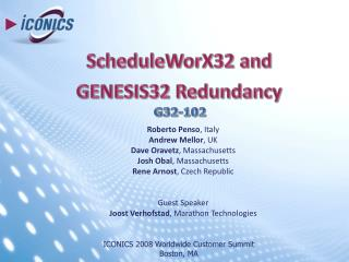 ScheduleWorX32 and GENESIS32 Redundancy
