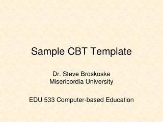 Sample CBT Template