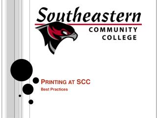 Printing at SCC
