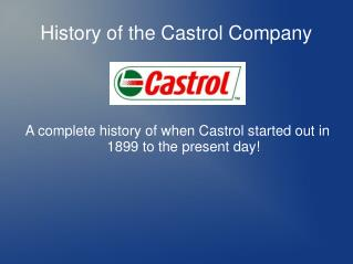 the history of castrol