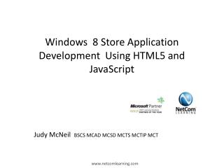 Windows  8 Store Application Development  Using HTML5 and JavaScript