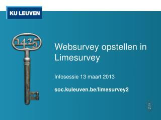 Websurvey  opstellen in Limesurvey
