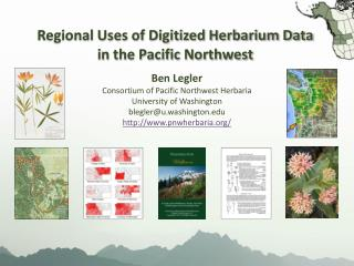 Regional Uses of Digitized Herbarium Data in the Pacific Northwest